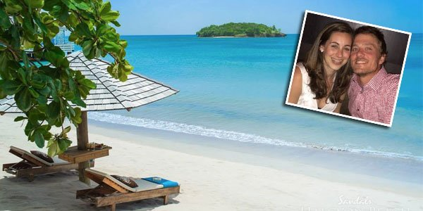 Katelyn & Joe Sandals Halcyon Beach - WeddingVibe Reviews