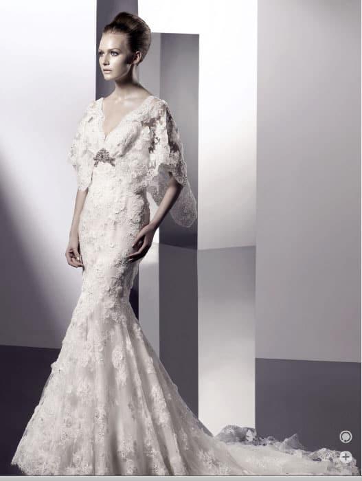 Capped sleeve Wedding Dress