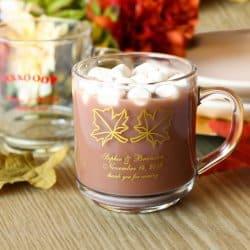 Fall Wedding Favors Personalized Coffee Mug