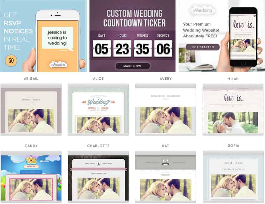 free custom wedding website