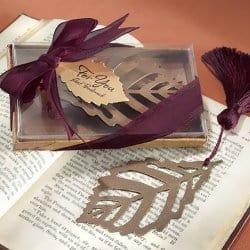 Fall Wedding Favors Leaf book mark