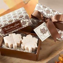Fall Wedding Favors Leaf Soap
