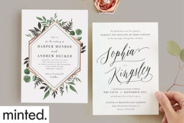 Wedding Giveaway from Minted