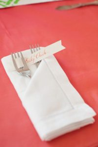 personalized wedding napkin