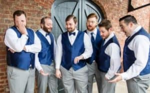 Shocked Groomsmen