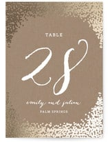 Wedding Ceremony Customizable Table Card