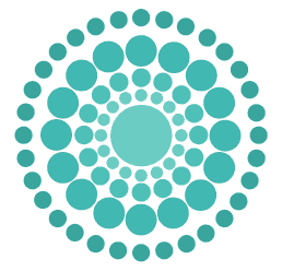WeddingVibe logo circle - turquoise