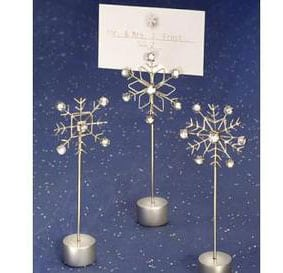 winter place card holder