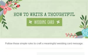 How To Write a Thoughtful Wedding Card