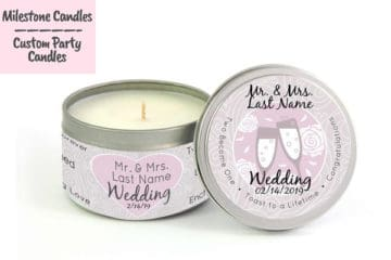 Wedding Giveaway from Milestone Candles