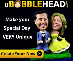 Create your custom Wedding Bobbleheads Today!