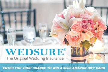 Wedding Sweepstakes and Contests - $250 Amazon Gift Card from Wedsure Giveaway