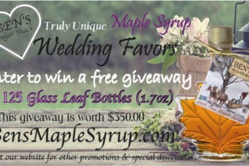 Wedding Sweepstakes and Contests - Maple Syrup Wedding Favors Giveaway