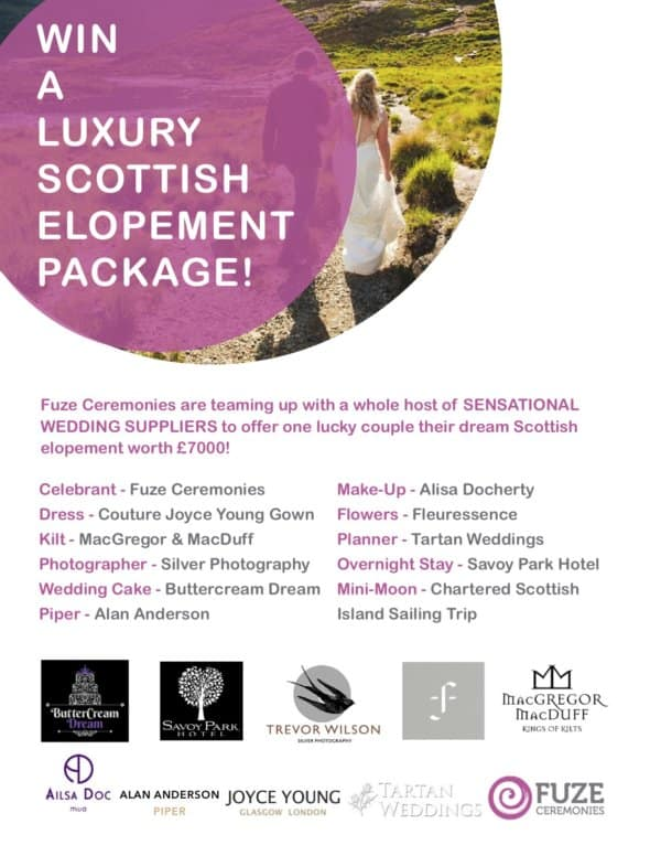 Win a luxury Scottish elopement package.